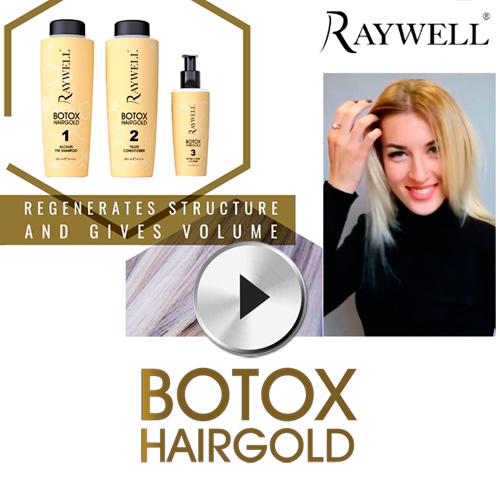 RAYWELL: con BOTOX HAIRGOLD dirai addio all'incubo dei capelli sfibrati e danneggiati